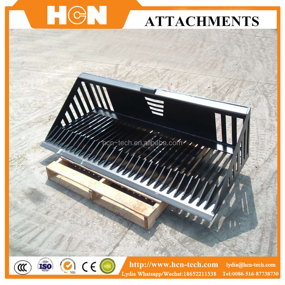 HCN brand 0101series skeleton bucket/sift bucket/screening bucket for tractor attachments