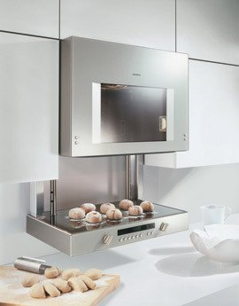 "GAGGENAU BL253610 24"" Single Electric Wall-Mounted Lift Oven Aluminum"