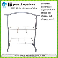 Durable metal wire shelf rack of laundry basket stand/laundry racking supermarket standing
