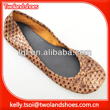 disposable demin colored tan ballet rollasole shoes
