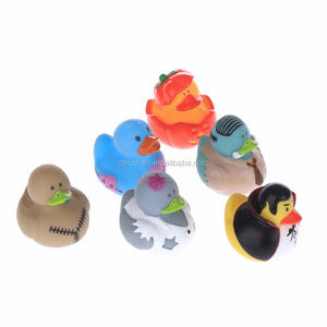 Hot sale Esalink Vinyl PVC Duck kid toy mini small promotional bath toy floating squeaky duck sets factory supplier children toy