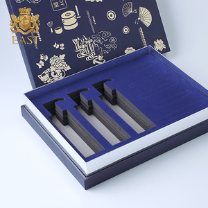 Blue Pre-curing UV Gift Health Care Box With Whole EVA Neto,Fancy color box make up brush set with custom design
