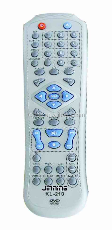 high quality universal DVD remote control oem KL-210
