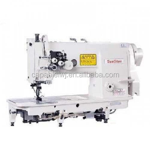 Industrial double needle lock stitch machines /Flat bed sewing machines