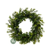 Hot sales spring artificial flower wreath, spring wreath for front door, boxwood wreath preserved