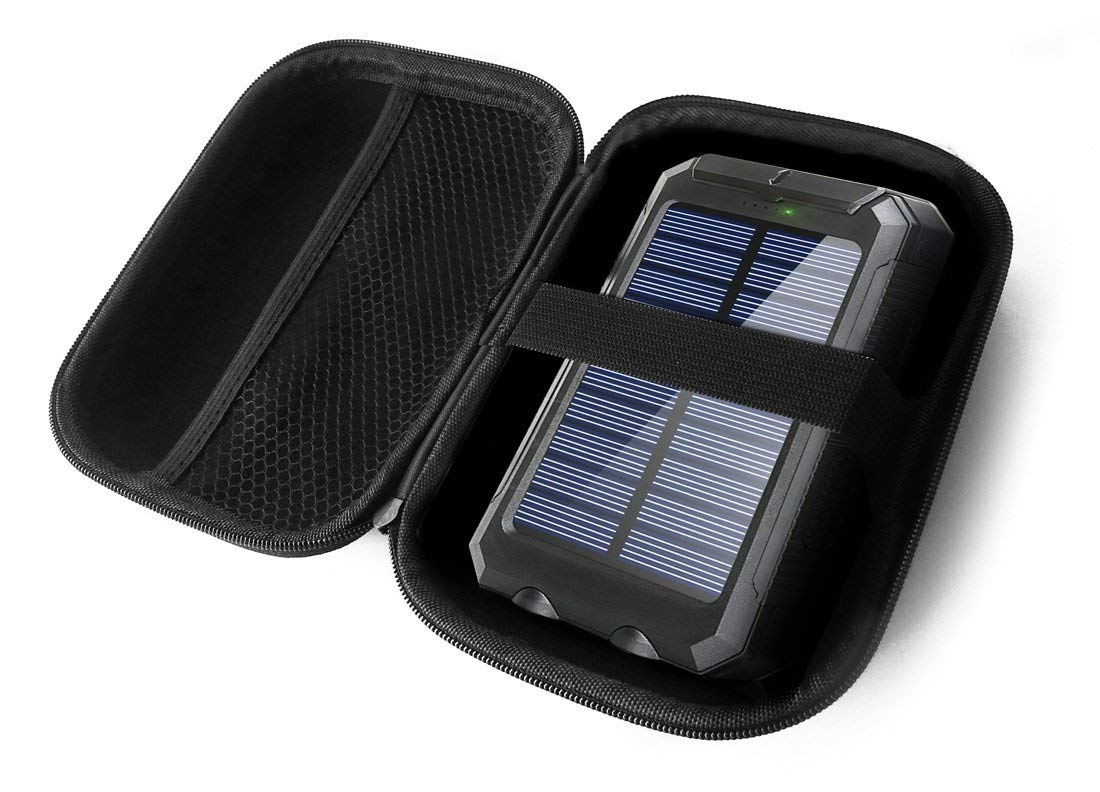 FitSand Hard Case for BESWILL 10000MAH Solar Phone Charger Waterproof Portable External Battery Pack Dual USB Solar Power Bank Travel Zipper Carry EVA Best Protection Box