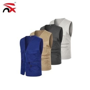 Wholesale Pockets Work Utility Travel Workwear Multi Pocket Vest for Mens