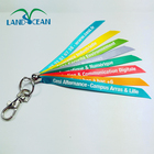 Top quality edm brand rainbow short lanyard, custom lanyard parts