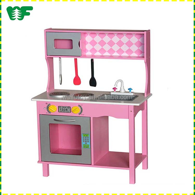 Hot selling wooden toy kitchen play set