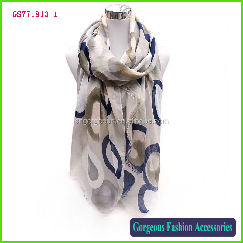 New design wholesale material satin love circle lady long scarf