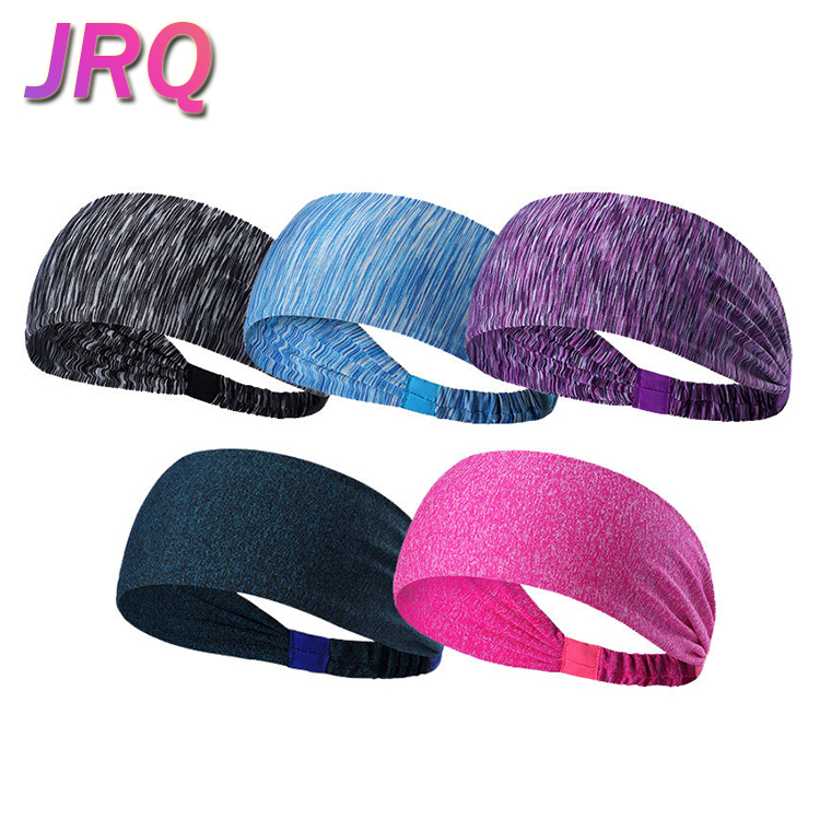 Wholesale lightweight Sweatband Nylon Yoga Headband for Fitness and Travel, 12 colors are available