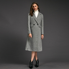 Fashion classic european women's autumn winter wool coats