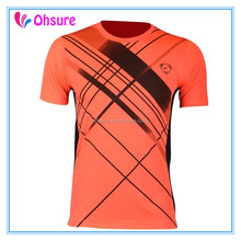 90% polyester 10% spandex running wear sports top mens gym t shirt