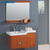 oak modern bathroom cabinet wall hanging cabinets with waterproof countertop