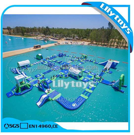 Outdoor Giant Inflatable Water Park Toys, Floating Water Game Combination Supplier