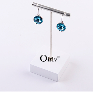 Oirlv Factory Manufacture Personalized High Quality White Crude Wood Base Metal Dangling Earrings Jewelry Hanger Stand