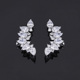 New Arrival Arc Shape Brass Platinum Plating Cuff Earrings For Women