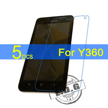 5pcs Ultra Clear LCD Screen Protector Film Cover For Huawei Y360 Protecto Film  +  cloth