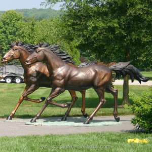 Antique life Size Outdoor Standing antique brass Horse Statue for Sale