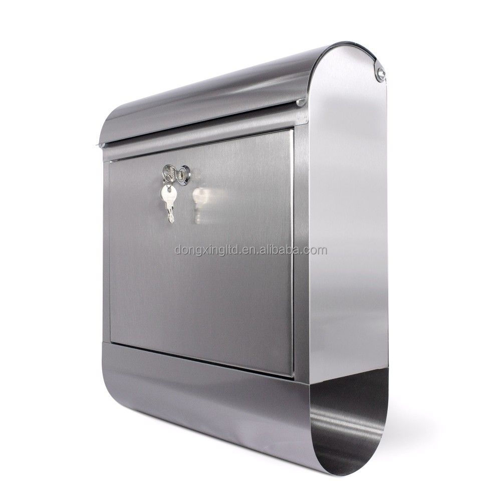 Wall Mount Stainless Steel Mailbox with keys