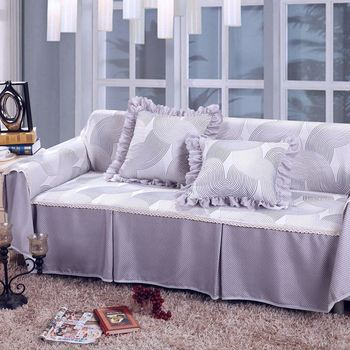 Unikea Thick Grey Printed Sofa Cover Sectional Covers For L Shaped Slipcover Couch