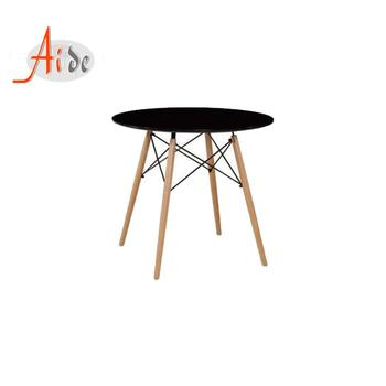 Modern design round Black wooden dining table for dining room furniture