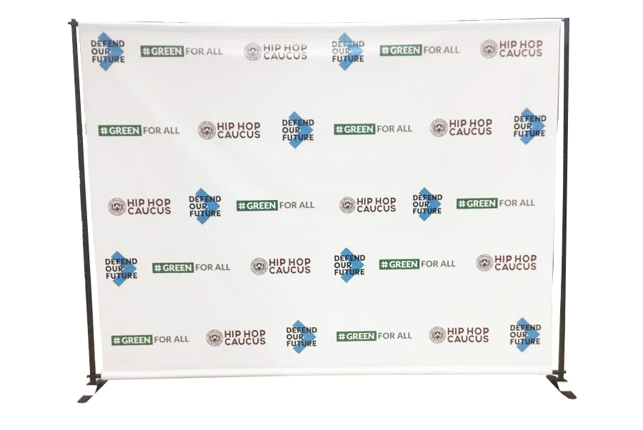 10x8ft Adjustable Telescopic Trade Show Banner Stand Adjustable Banner Stand