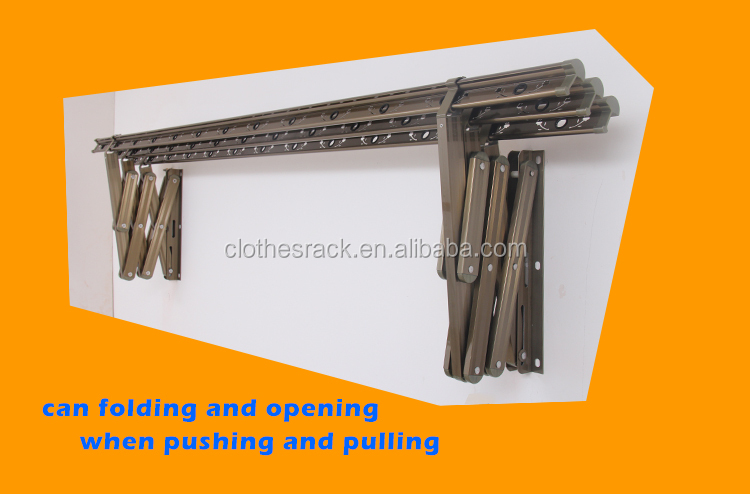 Push Pull Wall Mounted Clothes Drying Racks Aluminium