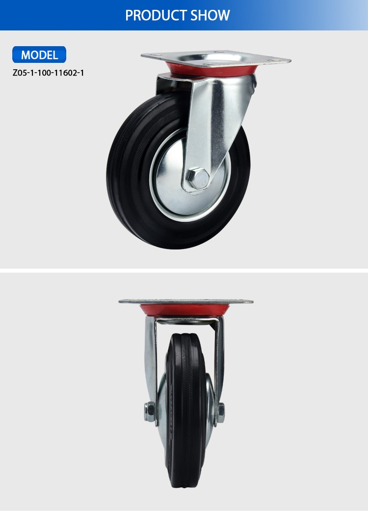 2017 hot sale Swivel Industrial caster wheel with brake