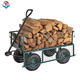 250Kg Loads 4 Wheel Steel Mesh Wagon Flower Garden Cargo Beach Trolley Cart