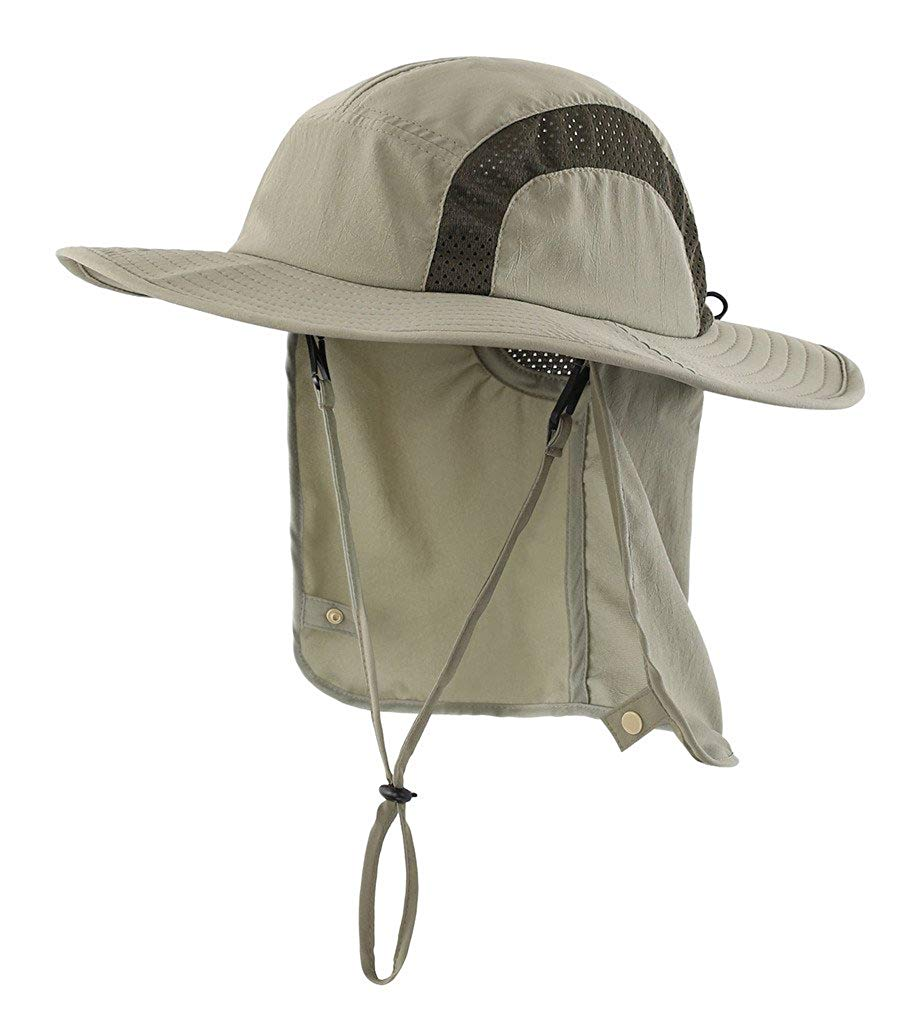7cd0ce1f Get Quotations · Home Prefer Kids Safari Hat UPF 50+ Sun Protective Cap Boys  Bucket Hat Flap