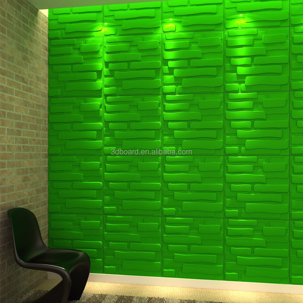 Japense restaurant decoration fireproof material supply 3d wall panel
