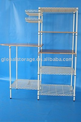 Home use chrome wire shelving