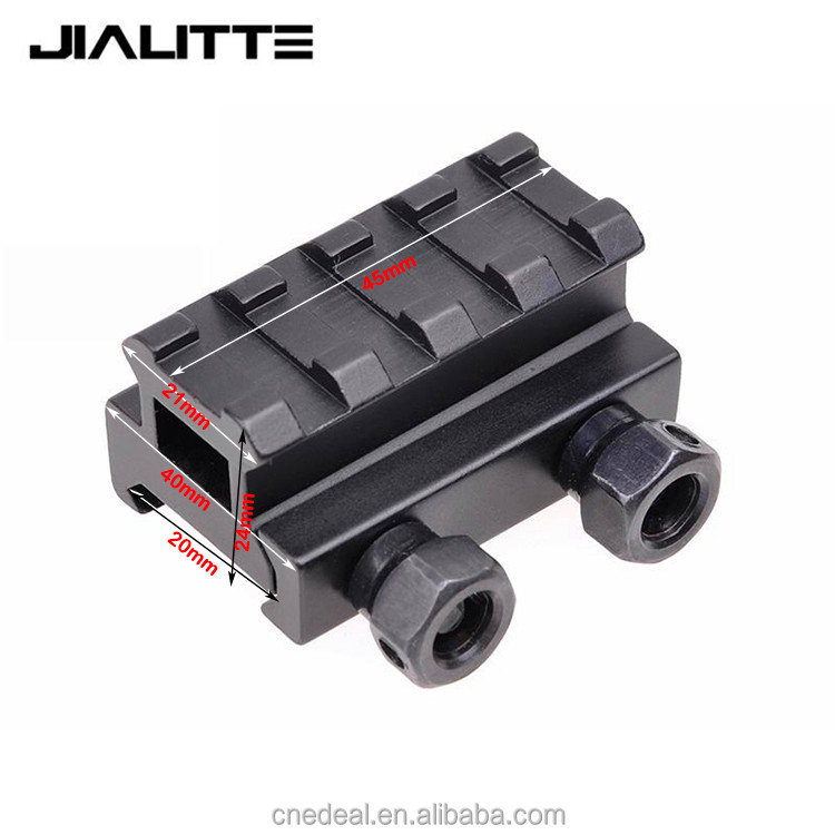 Jialitte J066 4 Slot Low Riser Picatinny Schiene Airsoft Paintball Riser Red Dot Laser Anblick Montieren Schienen