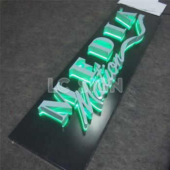 giant brief led verlichting teken board ontwerp voor shops naam en logo