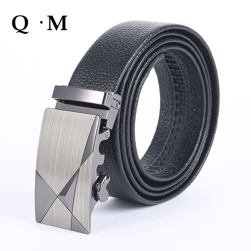 2015 100% Genuine Leather Belts For Men Brand Designer Mens Belt Ceinture Homme Luxury Belts Automatic Buckle Boys Waist Belt