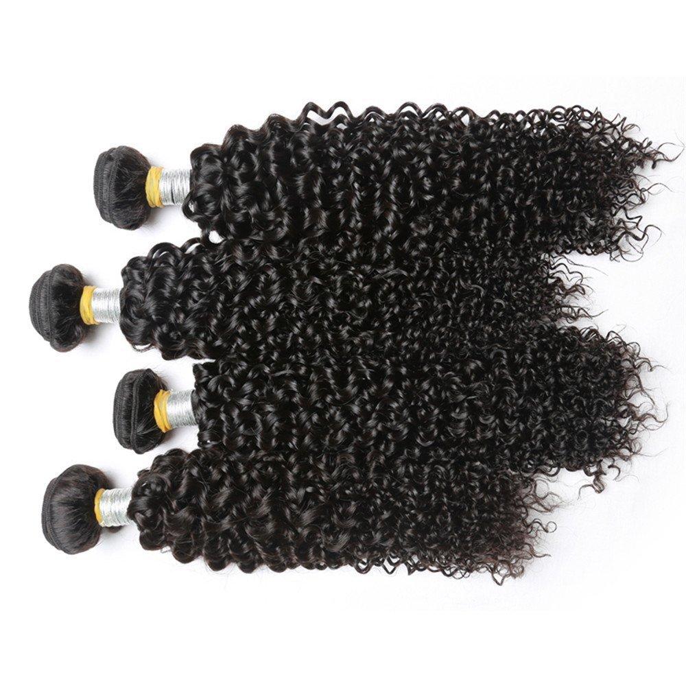 "7A Grade Peruvian Kinky Curly Virgin Hair 4 PCS Lot 400g 12""12""14""14"" Natural Color Unprocessed Human Hair Weave Peerless Peruvian Kinky Curly Hair Extensions 8-28"" In Stock No Tangle"