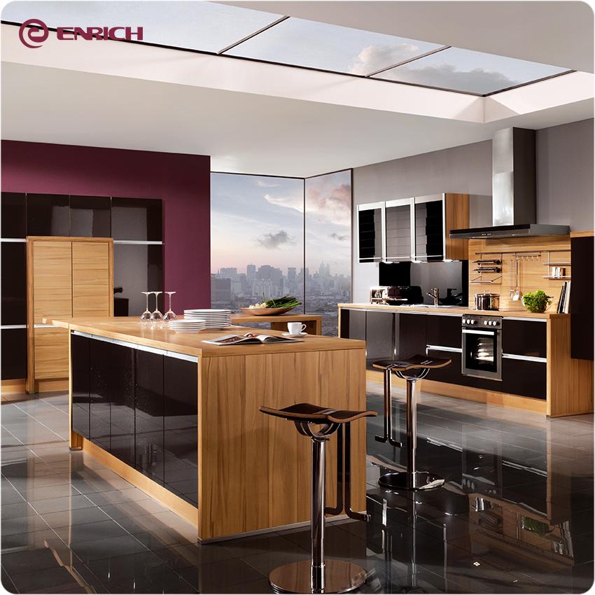 Favorable Price Modern Lacquer Melamine Kitchen Cabinet ...