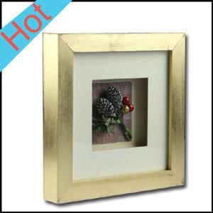 pintura de oro de madera d de pared sombra marco de arte de la pared al