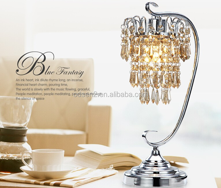 Cordless Crystal Chandelier Table Lamp, Cordless Crystal ...