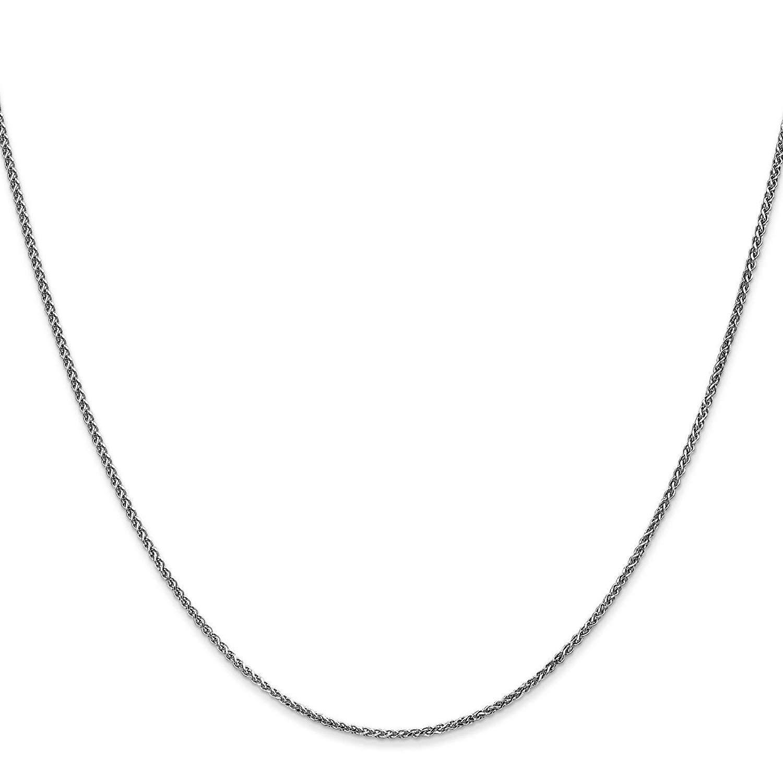 "14k White Gold 1.2mm Diamond-Cut Spiga Chain Necklace Bracelet 6"" - 30"""