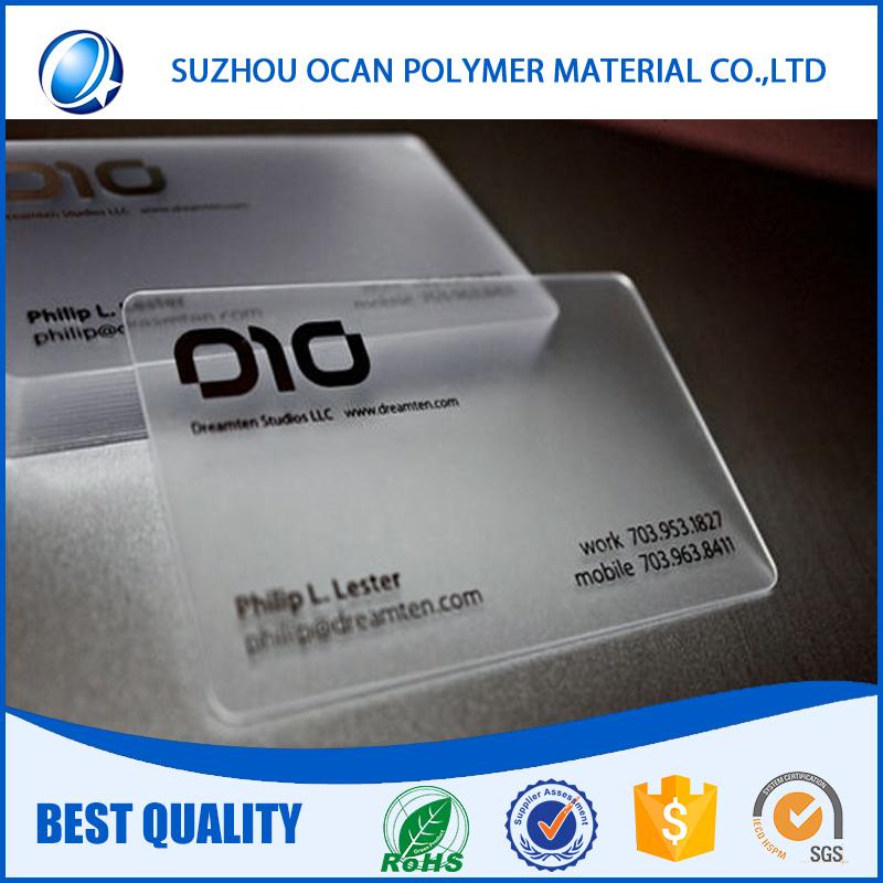 Plastic Business Card Sheet, Plastic Business Card Sheet Suppliers ...