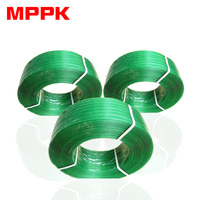 Strapping Tool Recyclable 16 19mm Polyester Polyethylene band Green PET Strap scrap