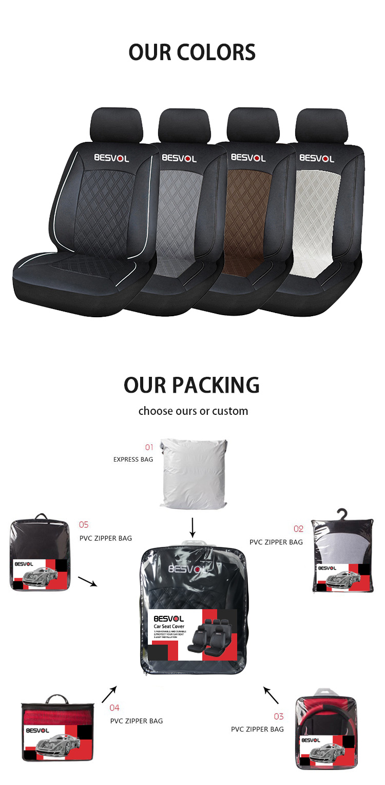 ZT-P-204  universal and custom leather car seat covers