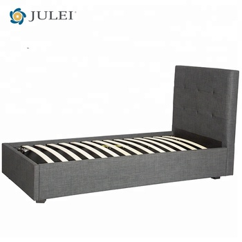 Modern Design Slat Frame Stainless Steel Foot Single Bed Hydraulic ...
