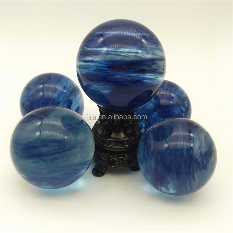BLUE crystal ball crystal balls wholesale quartz ball