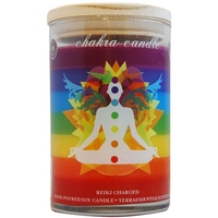Chakra Candle 7 Scented Layers with 7 Gemstones Representing All 7 Chakras