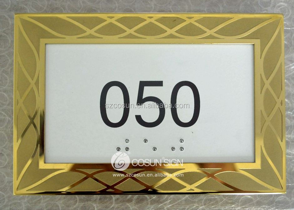 Hotel metal door numbers alphabet letters
