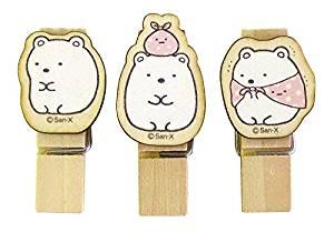 Sumikkogurashi / 3 Wood Clips / White Bear SG380SK