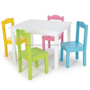 Us Market Popular Kids Study Table Children White Table
